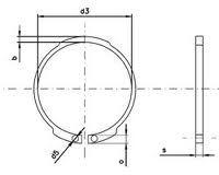 Vnější kroužek ČSN 02 2930 - DIN 471