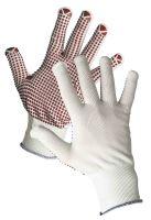 GANNET rukavice nylonové s PVC terčíky