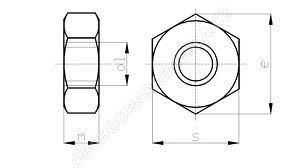 Matice šestihraná ČSN 02 1401 - DIN 934