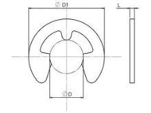 Pojistný třmenový kroužek ČSN 02 2929 - DIN 6799