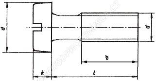 Šrouby s válcovou hlavou ČSN 02 1131 - DIN 84
