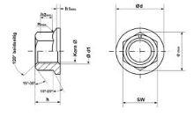M10 ozub.límec Zn  matice  6L10-2 DIN 6923 8.8