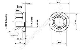 Matice ozubený límec DIN 6923