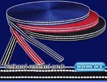 Reflexní našívací páska  15mm 5m