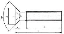 Šrouby se zápustnou hlavou s křížovou drážkou ČSN 02 1152 - DIN 965