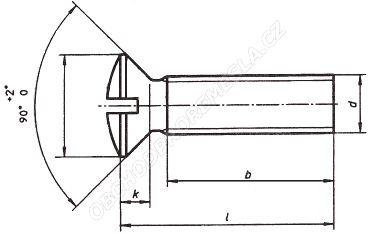 Šrouby se zápustnou čočkovitou hlavou ČSN 02 1155 - DIN 964
