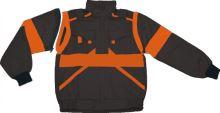 Blůza CXS Luxy, montérková, černo- oranžová, vel 54 Eda