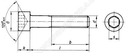 Šrouby s válcovou hlavou s vnitřním šestihranem ČSN 02 1143 - DIN 912