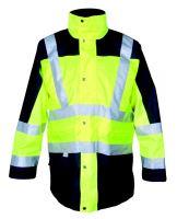 Bunda London, reflexní 3v1, žluto - modrá